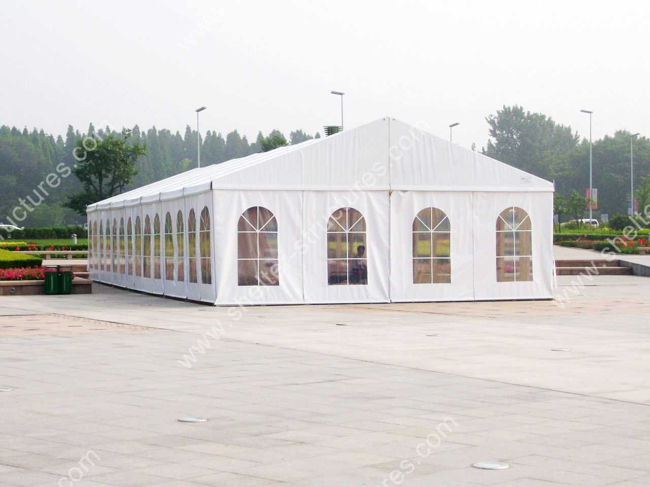high quality outdoor waterproof tent with double PVC coated polyster textile acc to DIN 4102 B1 M2 waterproof