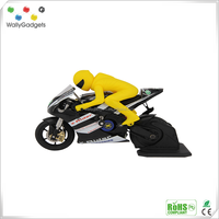 Wholesaler price of GradeAAA Yellow/Red Remote control drifting motorcycle for children