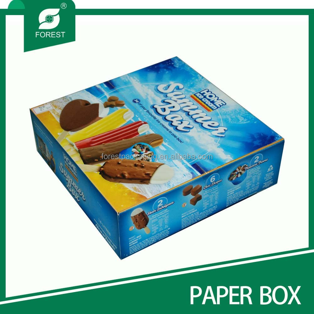 NEWLY DESIGN DISPOSABLE FROZEN FOOD BOX PACKAGING FOR ICE CREAM