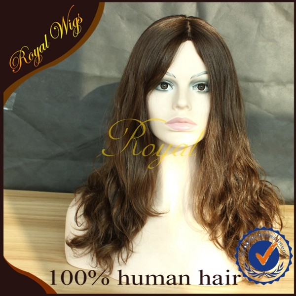 China Factory Wholesale European Virgin Hair Wig ,Jewish Wig Silk Top