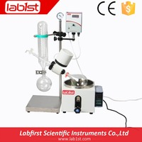 Desktop Rotary Evaporator with Vertical Condenser and Oil Bath