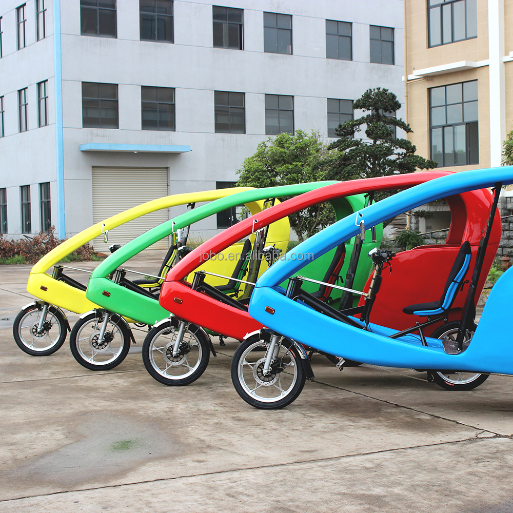 JOBO Touring Velo Taxi, 1Kw Electric Pedicab 3 Wheel Tricycle for Passenger