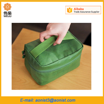 Nylon Cube Lunch Cooler Bag Insulated for food