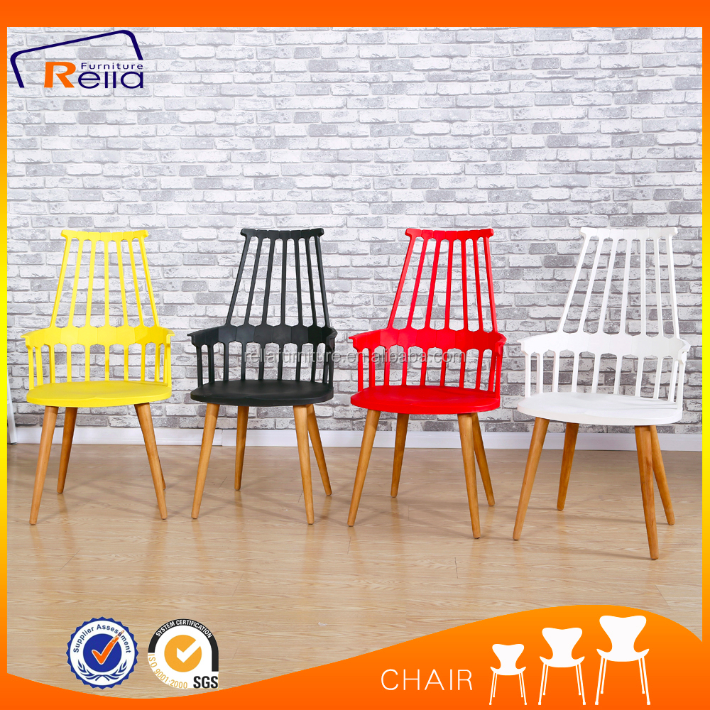 Rella furniture colorful outdoor fast food waiting room plastic chair used