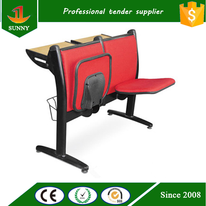 promotional manufacturer school chairs with attached desk