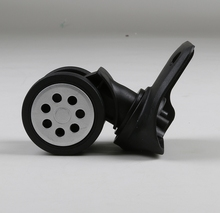 China Made plastic corner caster luggage wheel 360 rotarive parts travel handles for bags fabric