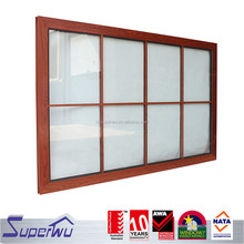 Alibaba china aluminim wooden fixed panel window with grilds