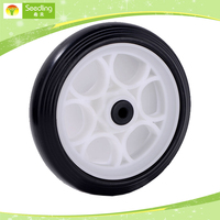 wheelbarrow wheels cheap 7.2 inch small plastic wheels for carts
