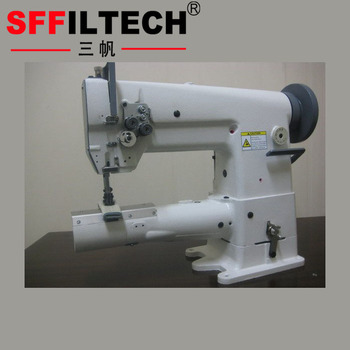 Industrial double needle lockstitch cylindrical bed compound feed sewing machine