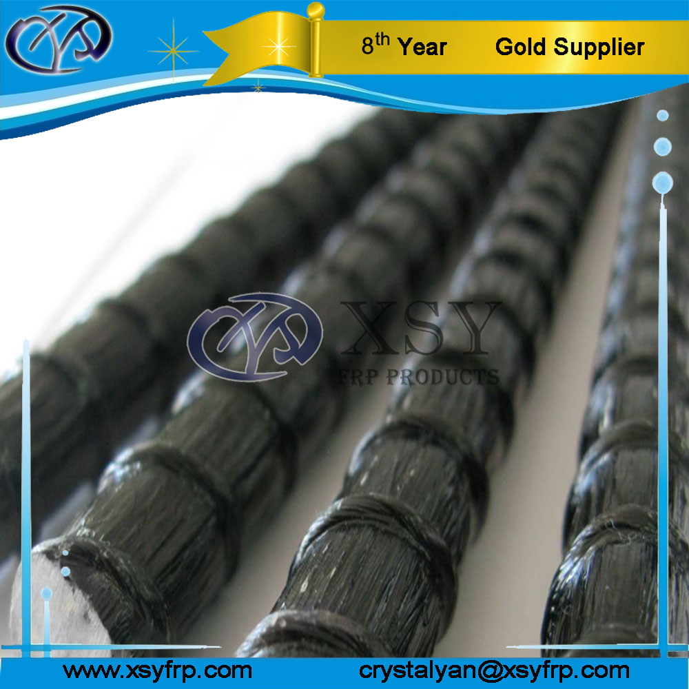Electrical insulated Composite BFRP Basalt Fiber Reinforced Polymer Rebar For Communication Building / Electronic Factory