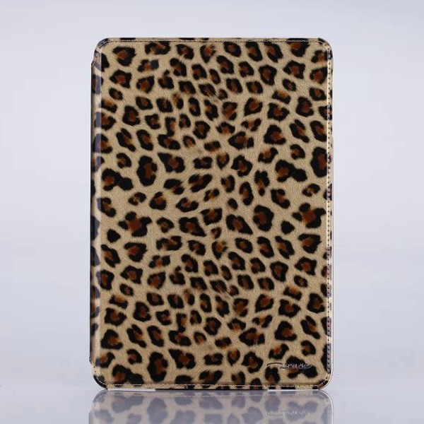 Ultra-thin leopard leather skin tablet case for iPad mini,for ipad mini laptop case, for ipad mini tablet cover