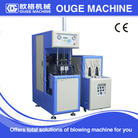 semi auto plastic bottle blowing machine