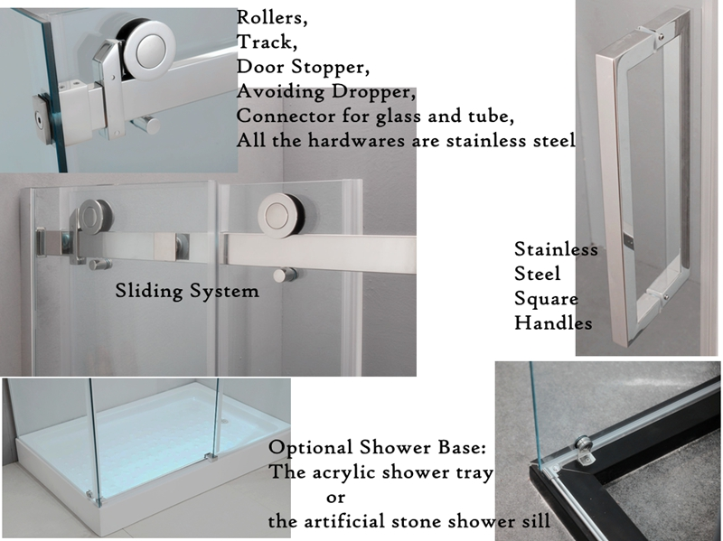 Factory Direct Price Special Design Doors L-Shape Shower Sliding Doors(KT8115-AU)