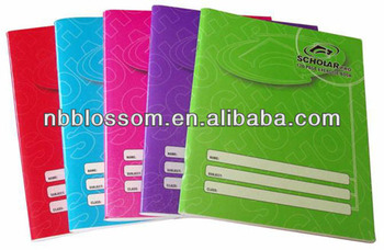 school stationery simple blank fashion bronzing exercise notebook office and school notebook A3/A4/A5/A6