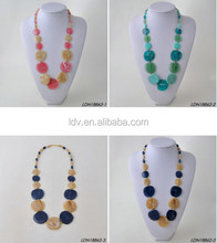 Variety Of Marble Circle Disc Collar Necklaces for Women and Girl Jewelrys