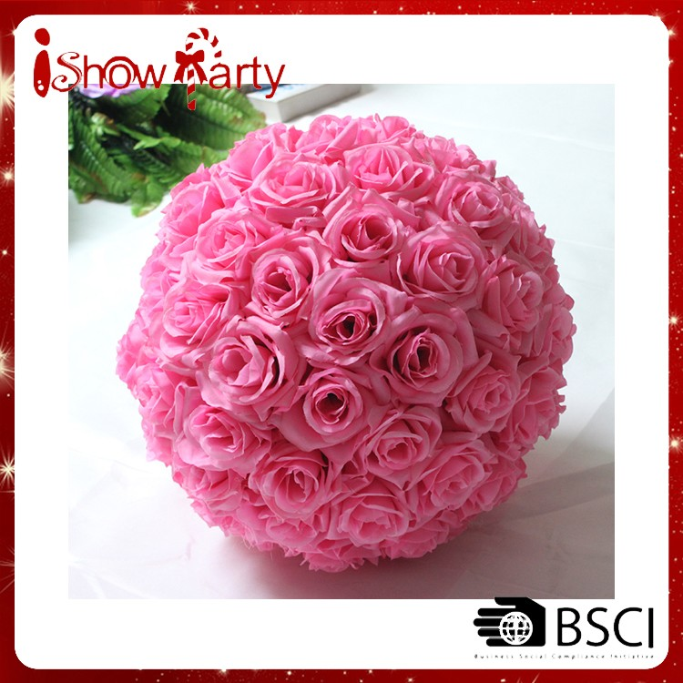 "Rose Flower Ball - 8""inch(20cm) Blue Wedding Decorations Artificial Rose Silk Flower Ball Centerpieces Mint Decoration"