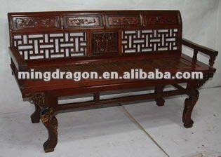 chinese antique long bamboo armchair