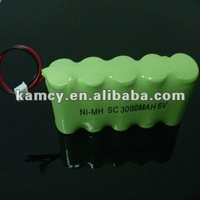 6.0V nimh rechargeable battery pack 5S1P for led light