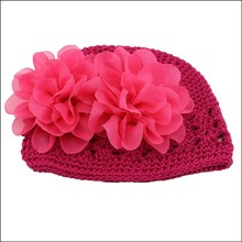 red color 100% acrylic crochet baby hat