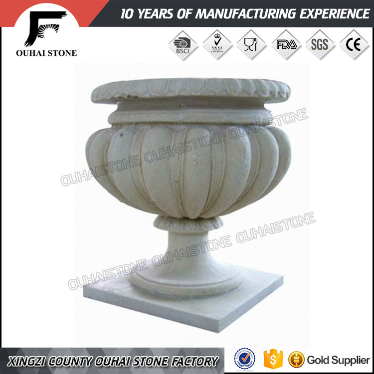 Big garden stone flower pots with high quality