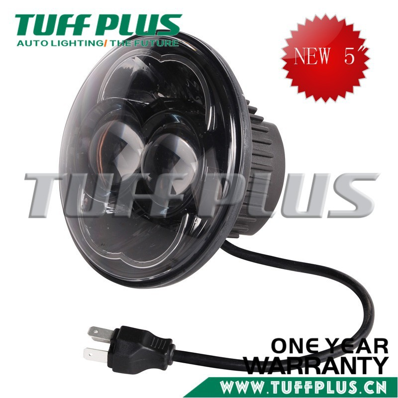 5 inch round high/low beam led headlight Jeep Wrangler CT TJ JK Harley with E-mark Approved