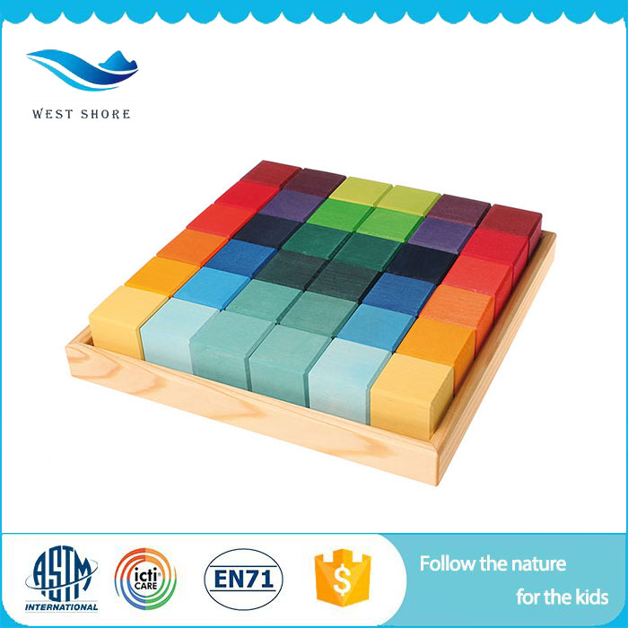 Hot Sale & High Quality Wooden Blocks For Kids Colorful Blocks 3D Puzzle Manufactured In China