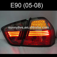 For BMW E90 3 Series 320i 323i 325 330 335 LED Tail Lamp 05-08 Red Black V2