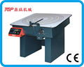 Woven leather goods making machine