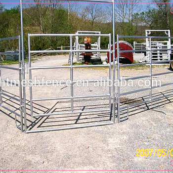 12 Foot Long 6/5Bars Economy Oval Tube Heavy Duty Ranch Panel(gate)/Steel Portable Livestock Panels wholesale