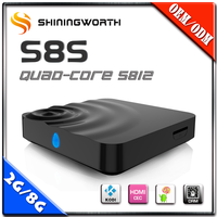 Hot Selling Quad Core s812 Streaming Media Player/m8s android tv box/shenzhen set top box Supplier