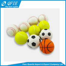 Wholesale 5cm soft custom antistress emoji PU Foam Squeeze ball for vending machine