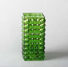 art glass vase with bubble