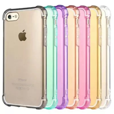 case cover for apple iphone 7, ShockProof Silicone Bumper Clear Slim Case Cover For apple iphone 7 6 6S Plus