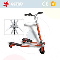 Adults Children professional breaststroke scooter 3 wheels foot kick scooter.