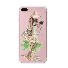 Fancy Sexy Girl Soft Rubber Phone Accessories Mobile Cover Super Thin TPU For iPhone 8 Case Phone Cover