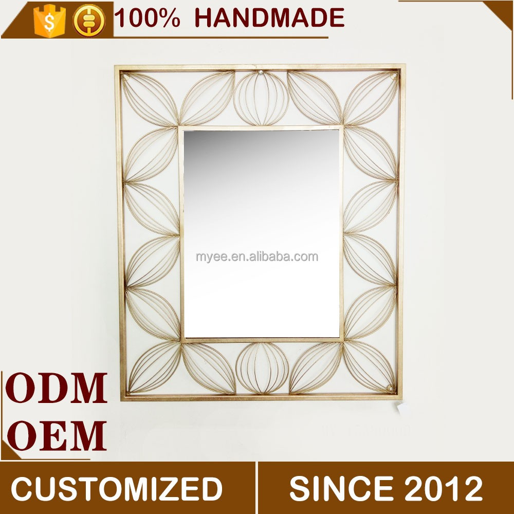 hot sale square iron home wall decorative mirrors