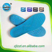 PVC012- PVC man air filled insole to reduce the size of shoe EVA footbed comfortable foot insoles