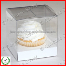 PVC cheap clear custom mini wholesale cupcake boxes