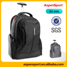 Wholesale 1680D Polyester Water Resistant Business Trolley Laptop Backpack Trolley school Bag