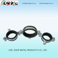 galvanized steel vertical wall mount pipe clamp