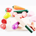 Wooden kitchen cutting fruit toys set
