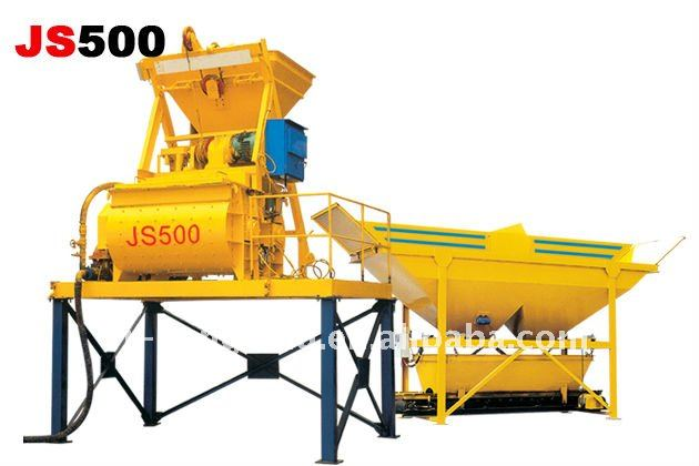 Automatic JS500 Concrete Mixer for concrete mixing plant