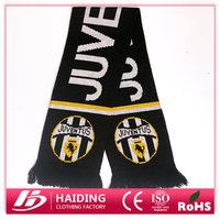 Hot selling Acrylic Football Fan Scarf,Football scarf,Black Knitted scarf