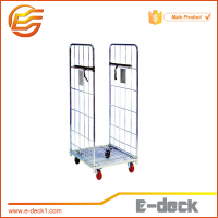 steel nestable roll pallet cage two sides movable roll container logistic roll pallet for sale