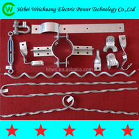 Preformed fiber optical equipment guy grip covered wire clamp suspension clamp for adss cable