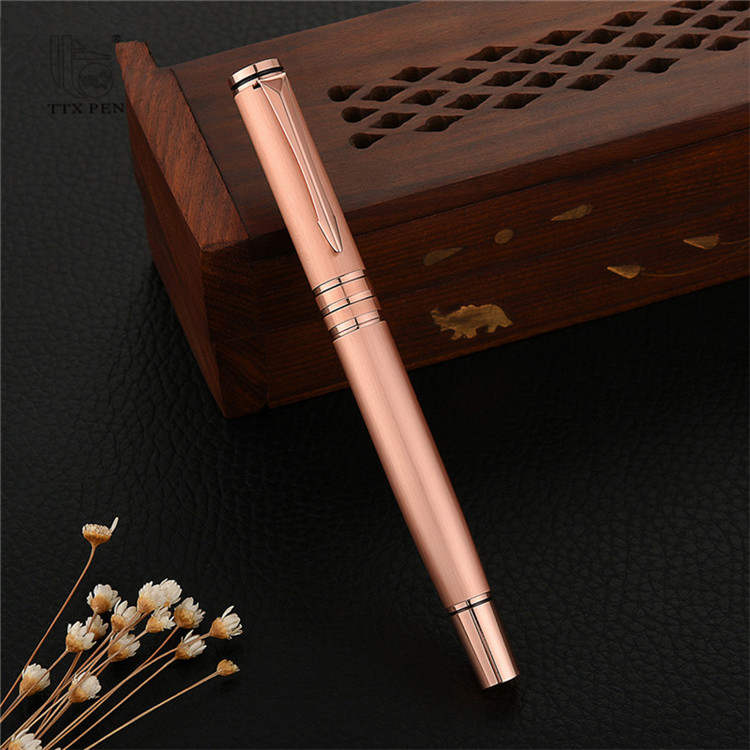 2019 New high value branded pen elegant metal roller ball pen for promotion gift