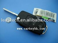 Universal car keys for VW 3 Button flip Remote Case