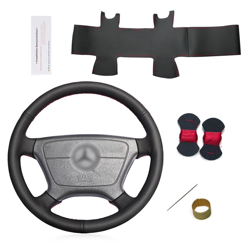 Hand Sewing Customized Steering Wheel Covers for Mercedes Benz E-Class W210 E 200 240 280 320 1995-2002 <strong>W140</strong> S320 350 420