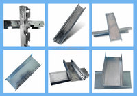 False ceiling sections steel T grid sections