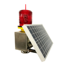 Solar Aviation emergency Light for Wind Power/solar powered aviation lights/Red LED flashing Aviation lighting